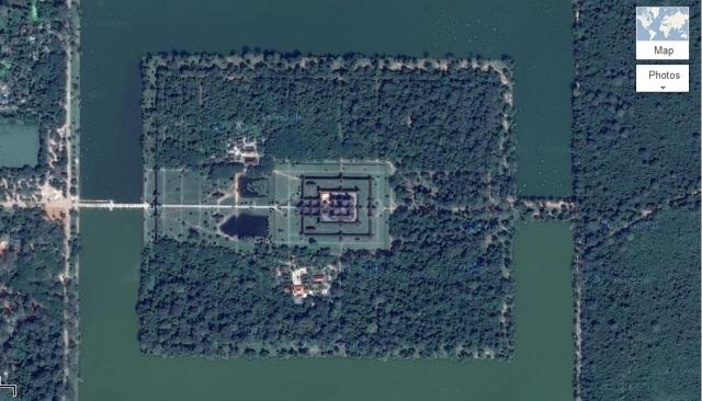 Angkor Wat, Courtesy Google Maps